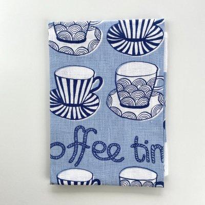 コーヒータイム /キッチンクロス(ブルー)