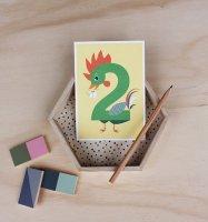 2 にわとり /NUMBER BIRTHDAY CARDS
