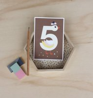 5 はくちょう /NUMBER BIRTHDAY CARDS