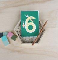 6 へび /NUMBER BIRTHDAY CARDS