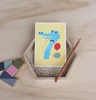 7 わに /NUMBER BIRTHDAY CARDS
