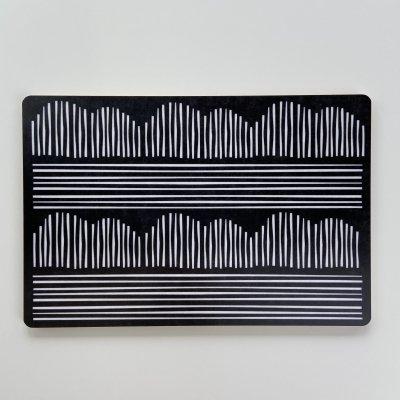 ブルーム・パターン・ミニカッティングボード(18cm x 12cm)