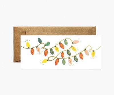 クリスマスライト・ランドスケープカード