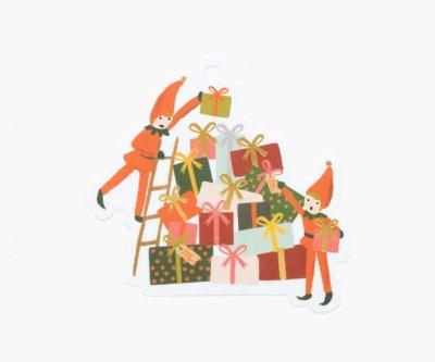 エルフ・クリスマス型抜きギフトタグセット