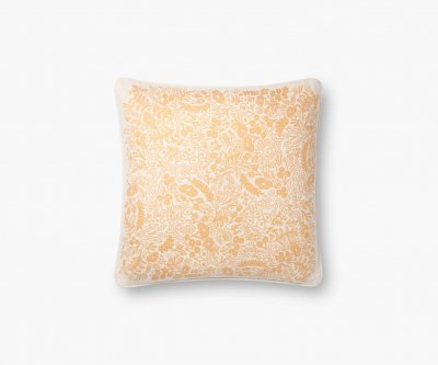 【ネコポス対応!】ゴールドタペストリー(ホワイト)・クッションカバー(45×45cm)