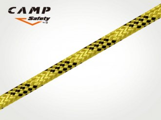 CAMP セミスタティックロープ 11mm Yellow Black(100m)