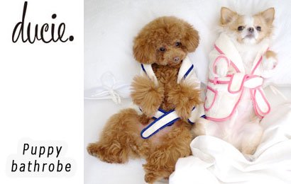 【ducie(デューシー)】Puppy bathrobe