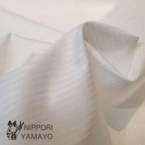 白ジャガードストライプ 綿100% 巾110cm