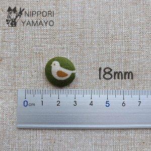 クルミボタン 平 18mm