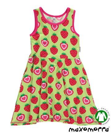 北欧スウェーデンのこども服 Strawberry ノースリーブワンピース 9ヶ月-4歳 Maxomorra マクソモーラ