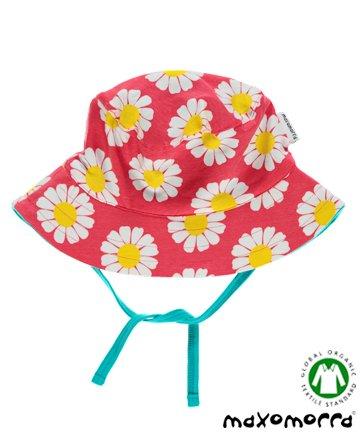 セール 北欧 ベビー用品 サンハット/帽子 Daisy Coral 花柄 6-12か月/1-2歳 Maxomorra マクソモーラ