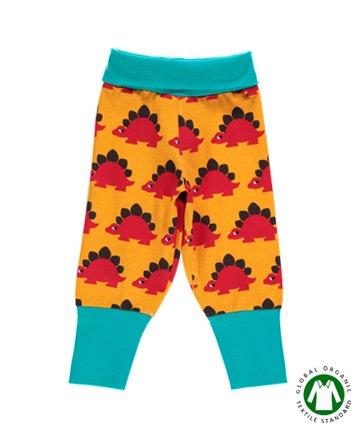 北欧 ベビー服 ロングパンツ Dino 恐竜 オレンジ 68 80|Maxomorra マクソモーラ
