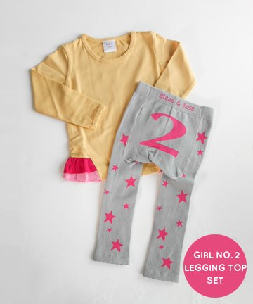 【ギフトセット】2歳 Girl No.2 レギンス&長袖Tシャツセット 90cm Blade&Rose ブレイドアンドローズ