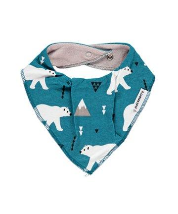 【Maxomorra PLUS】北欧 ベビー用品 スカーフ風よだれかけ/スタイ Polar Bear シロクマ