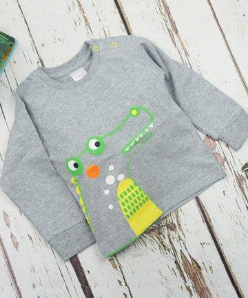 ベビー トドラー 長袖Tシャツ Crocodile...