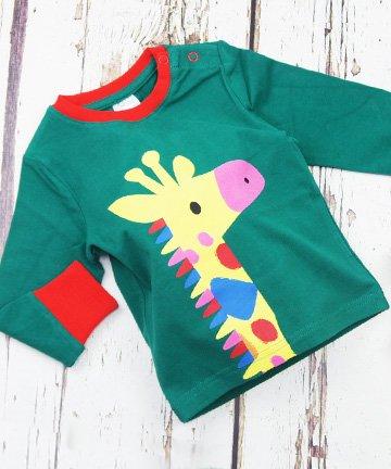 ベビー トドラー 長袖Tシャツ Giraffe ...