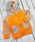 ベビー&トドラーアウター フード付きパーカー Striped Orange Hoodie|Blade&Rose