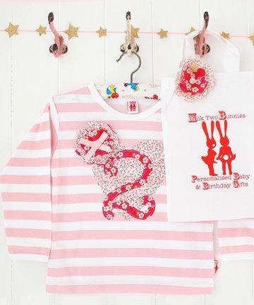 Milk Two Bunnies リバティ 長袖Tシャツ...