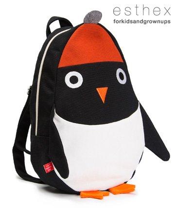 【送料無料】esthex キッズ アニマル リュック Ned ペンギン 子供用 2-6歳  エステックス