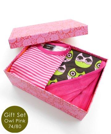 【送料無料/BOX代込み】出産祝い Owl Blanket フライングタイガーボックスギフトセット(9ヶ月-1歳半)