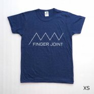 「FINGER JOINT」<br>ロゴTシャツ-5<br>ネイビー
