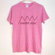 「FINGER JOINT」<br>ロゴTシャツ-5<br>ピンク