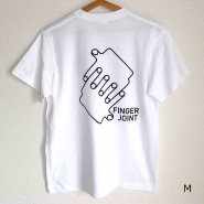 「FINGER JOINT」<br>ロゴTシャツ-8<br>ホワイト<img class='new_mark_img2' src='https://img.shop-pro.jp/img/new/icons8.gif' style='border:none;display:inline;margin:0px;padding:0px;width:auto;' />