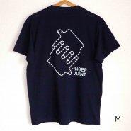 「FINGER JOINT」<br>ロゴTシャツ-8<br>ネイビー