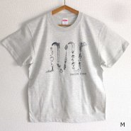 「FINGER JOINT」<br>野菜ロゴTシャツ-1<br>オートミール