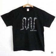 「FINGER JOINT」<br>野菜ロゴTシャツ-1<br>ブラック