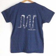 「FINGER JOINT」<br>野菜ロゴTシャツ-3<br>ネイビー