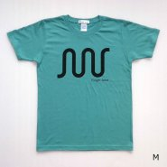 「FINGER JOINT」<br>ロゴTシャツ-3<br>グリーンブルー
