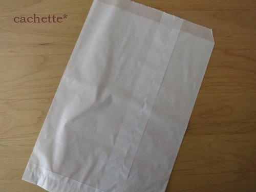 ベロ付グラシン袋(ホワイト)10枚セット