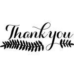 [The English Stamp Company製スタンプ] thank you flourish(大)