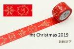 カモ井マスキングテープ mt クリスマス2019 装飾活字