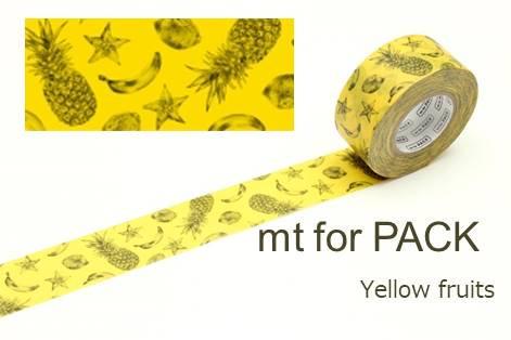 カモ井マスキングテープ mt for pack yellow fruits