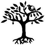 [The English Stamp Company製スタンプ] 木と鳥(大)
