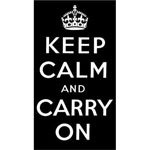 [The English Stamp Company製スタンプ] Keep Calm and Carry On(大)