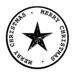 [The English Stamp Company製スタンプ] クリスマススター(大)