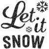 [The English Stamp Company製スタンプ] let it snow(大)