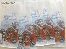 海外のマルシェ袋★ドイツ (雪だるま・白・5枚セット)