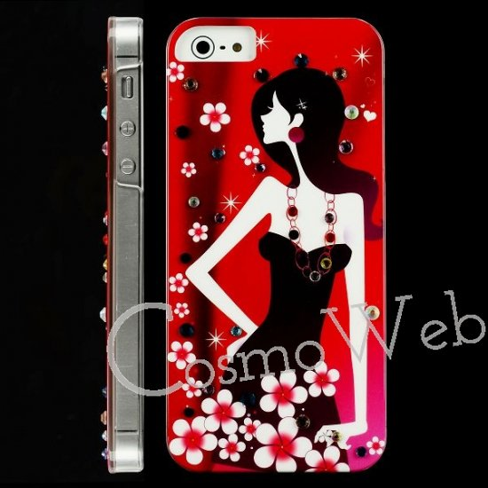 iPhone5 Elegant Beauty Diamond レッド