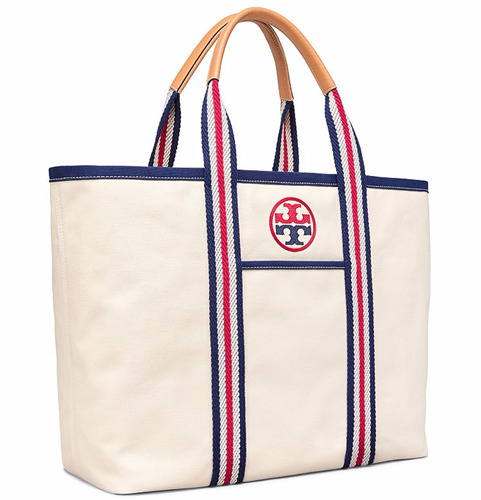 4f8f80a7494 トリーバーチ エンブロイディード-T ラージトート Tory Burch EMBROIDERED-T LARGE TOTE (NATURAL)