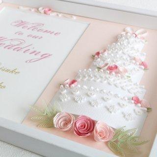 ケーキのウェルカムボード