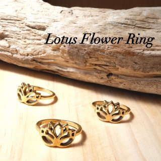 20号 ロータスリング 真鍮製 蓮の花指輪