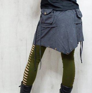 フェイクスエード巻きスカート