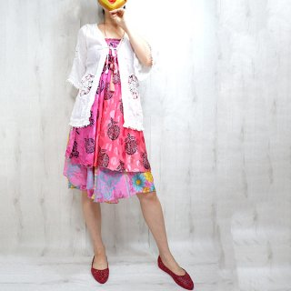 インドサリーリメイク巻きスカート 0219 一点物