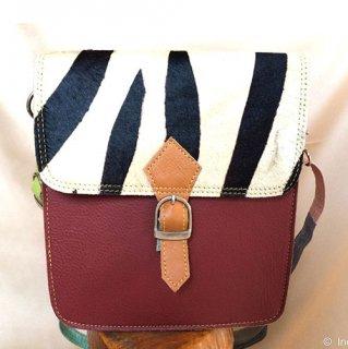 カラフルセパレートハラコハンドバッグ
