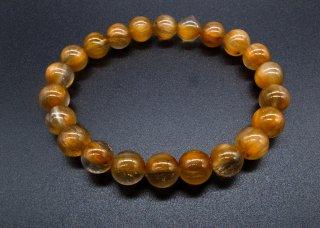 オレンジベリルルチル 7A 一連 ブレスレット