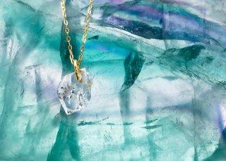 「世界にひとつの宝物になる」ハーキマーダイヤモンド 原石 ペンダント